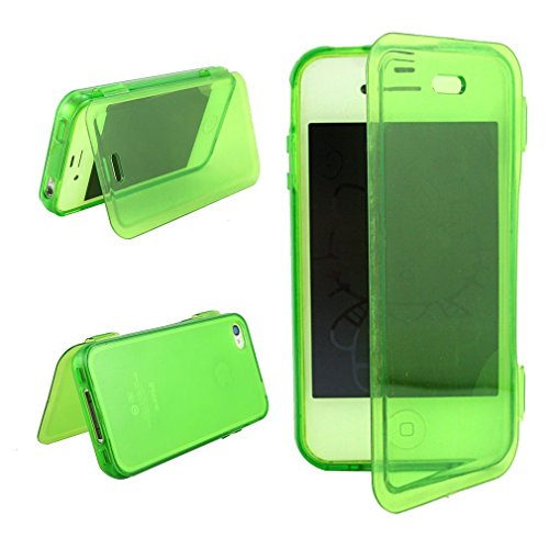 casefirst iPhone 4 4s Case, Slim Drop Protection Cover, Grip Back - Green (Case Für 4s Carry Iphone)