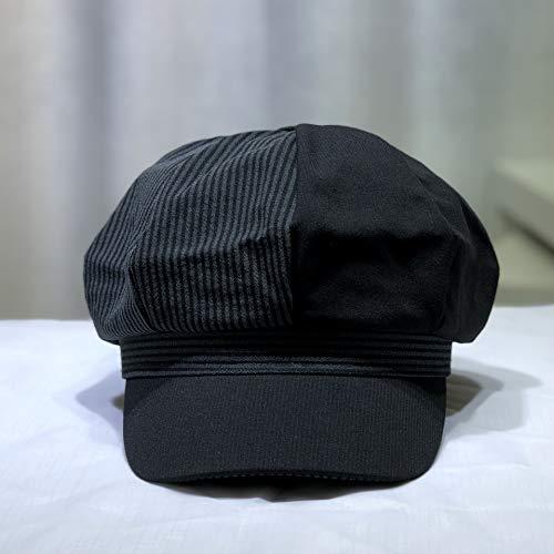 kyprx Bailey Hut weiblichen Frühling und Sommer Neue Kinder Hut Mode Kappe Wilden achteckigen Hut weiblich schwarz M (56-58cm) Oasis Bailey