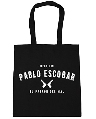 hippowarehouse-pablo-escobar-el-patron-del-mal-tote-shopping-gym-beach-bag-42cm-x38cm-10-litres
