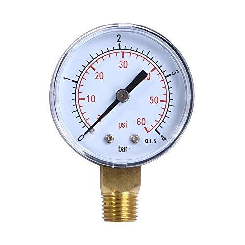 Awakingdemi agua medidor de presión, medidor de presión de agua manómetro de presión de aire, Piscina...