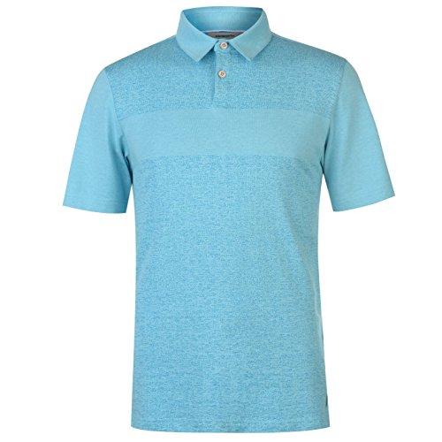 Ashworth Herren Jacquard Golf Polo Shirt Kurzarm Crystal Blau X L (Ashworth Golf-t-shirts Herren)