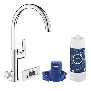 Grohe Blue Pure Eurosmart – Grifo de cocina con filtro de agua, Kit de iniciación, color cromo (Ref.30383000)