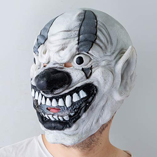 Fulltime Gruseliger Clown Scary Bleeding Helm Horror Cosplay Kostüm Maske Halloween Requisiten (As Shown)