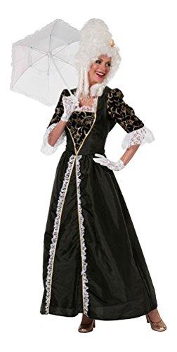 iktorianisches Damen-Kostüm schwarz Barock Kostüm Damen Renaissance Marquise Damen-Kostüm Größe 42 (Renaissance-kostüm-muster)