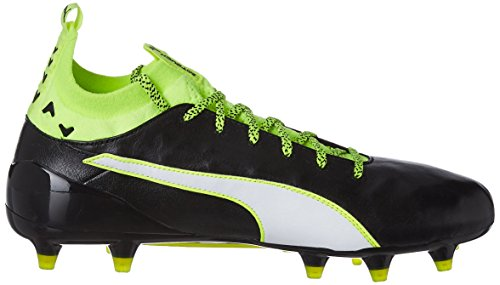 Puma Evotouch 1 Fg, Scarpe da Calcio Uomo Nero (Schwarz (black-white-safety yellow 01))
