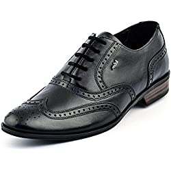 Lee Cooper Men's Black Leather Formal Shoes