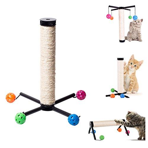 OSPet Sisal - Poste rascador gatos pelota juguete