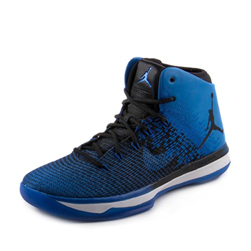 Nike Men's Air Jordan XXXI Basketball Shoe, Black/White/White/Game Royal, 10 D(M) US