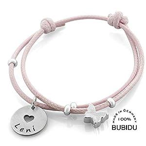 Taufarmband Mädchen mit Gravur ❤️ rosa Armband 925 Silber Kinderarmband zur Taufe Geburt ❤️ Silberschmuck Baby Kinder Psalm ❤️ Taufgeschenk mit Herz | HANDMADE IN GERMANY