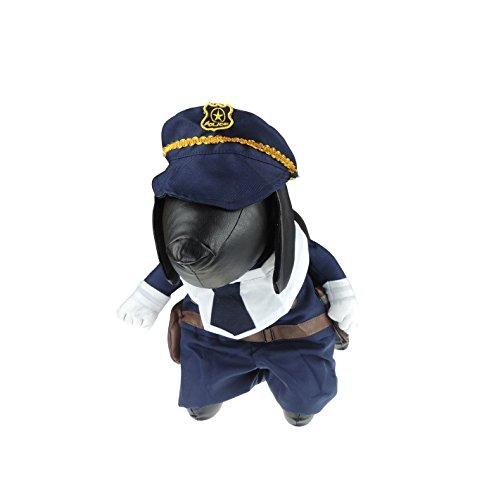 Super süße Hunde Katzen Kleid bis Halloween Funny Kostüm Polizist ()