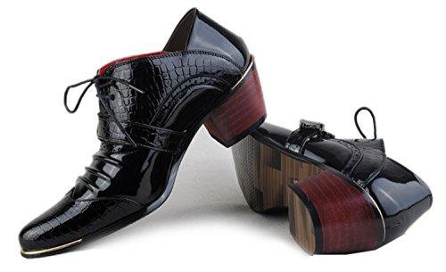 NSPX Scarpe da ginnastica English Ladies Scarpe Uomo Donna Uomo Scarpe Casual Scarpe Stylist Pointed , black , 43 40-BLACK