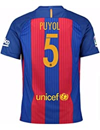 2016-17 Barcelona Sponsored Home Football Soccer T-Shirt Camiseta (Carles Puyol 5