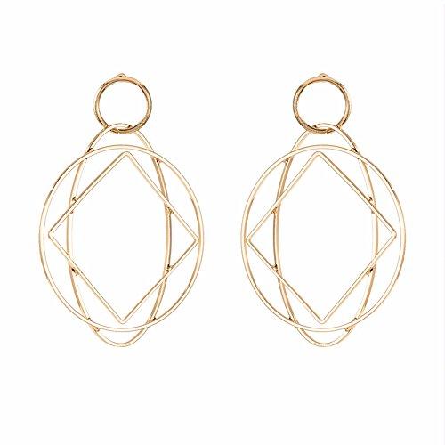 YAZILIND Europa große hohle geometrische Stollen hochwertige Temperament Mode personalisierte Ohrringe Gold für Frauen Mädchen