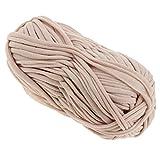 perfk 100g Textilgarn zum Häkeln und Stricken, Jerseygarn Häkelfaden für Handwerk DIY Projekte - 61