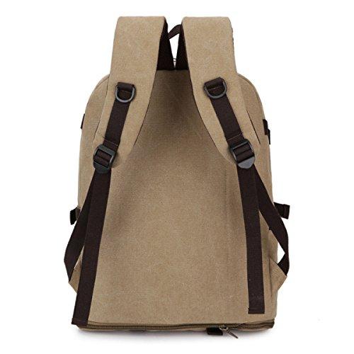 LAIDAYE Schüttgutbehälter Außentasche Rucksack Bergsteigen Schultertaschen Reisetaschen Rucksäcke Brown