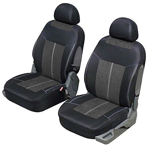 Housse siège auto avant universelle Gris et noir, microfibre design et confort