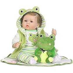 """Muñeco Recién Nacido, Triplespark 15.7"""" Suave Vinilo Silicona Lifelike Reborn Baby DOLLS 40cm Calidad Realista Muñecas Bebé Juguete Regalo (RB094), Estándares EN71"""