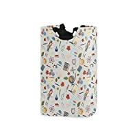 LENNEL Large Storage Bin Laundry Basket Hamper Aschool Theme Multifunction for Bathroom, Bedroom, Clothes with Handles