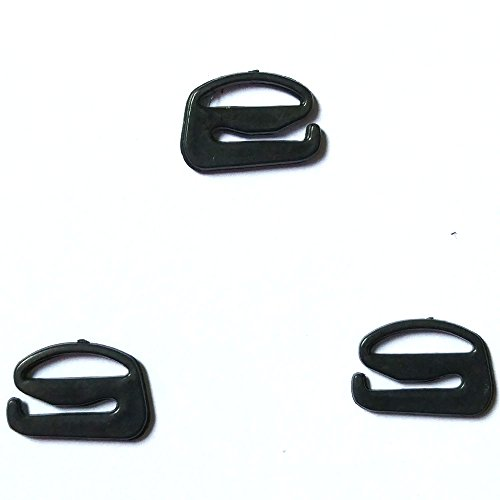 unststoff Dessous Anpassung Band Folien Hardware Nähen Clips Schließe Haken für BH Strp schwarz Farbe 15mm schwarz ()