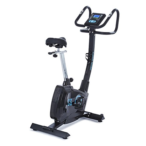 Capital Sports Durate • Ergometer • Cardio-Bike • Fitnessbike • Heimtrainer • Pulsmesser • Trainingscomputer • 4 kg Schwungmasse • 8-stufiger Widerstand • max. 100 kg • schwarz