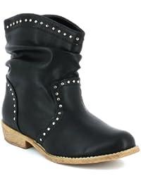 Boots noires cloutées