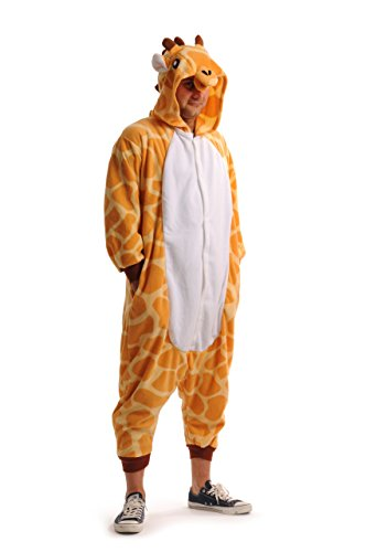 Happy Giraffe - Unisex Pyjamas, Jumpsuit, Onesies, Party Wear, Fun Wear For Him & Her - White Designer Jumpsuit