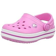 Crocs Unisex-Kinder Crocband K Clogs, Pink, 30/31 EU