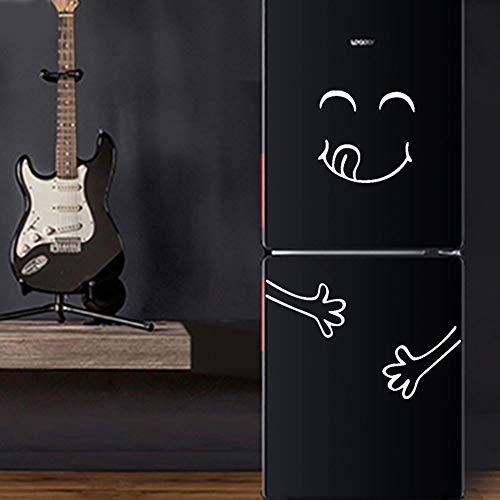 TianranRT Niedlich Aufkleber Kühlschrank Glücklich Köstliche Gesicht Küche Kühlschrank Wand Aufkleber Kunst (Weiß)