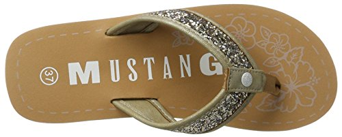 Mustang 1243-702-4, Sandales Bout Ouvert Femme Beige (4 Beige)