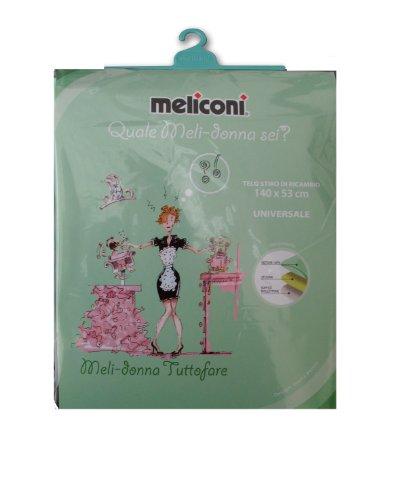 Meliconi telo stiro dimensione universale decoro melidonna tuttofare - 140 x 53 cm