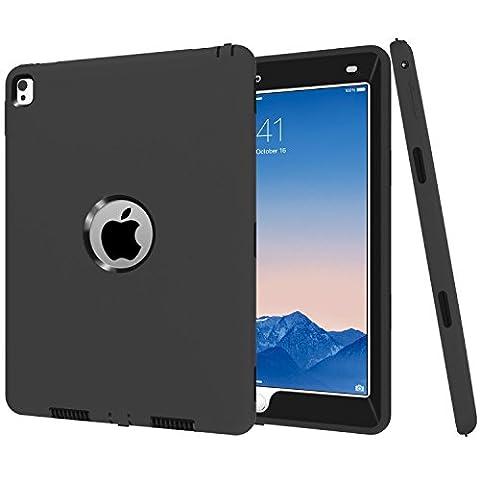 iPad Pro 24,6cm Coque, MS Jumpper Heavy Duty Coque amortissement haute résistance aux chocs Armour Defender Coque pour iPad Pro 24,6cm 2016 For iPad Pro 9.7 noir
