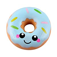 NEWLUK Slow Rising Squishy,Smiley Slow Rebound Donut Squishy Toy, Sweet Scented Vent Charms Toy Cute Kid Toy Hand Toy, Lovely Stress Relief Toy , Decorative Props Christmas