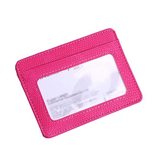 Zolimx Mode Frauen Lichee Muster Bankkarte Paket Münztüte Kartenhalter Pink
