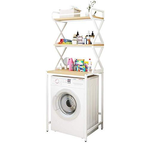 XYJZW Regal 3-lagiges Stahlregal mit Ablage for Waschmaschine