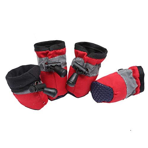 Camo Booty (AMURAO Hund Schuhe Stiefel, Wasserdichte verstellbare reflektierende Regen Puppy Cat Booties Pet Products)