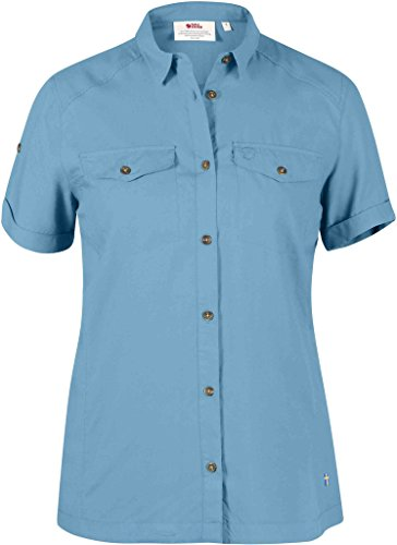 Fjällräven Abisko Vent Shirt SS W - Kurzärmeliges Funktionshemd (Bluebird (509), XL)
