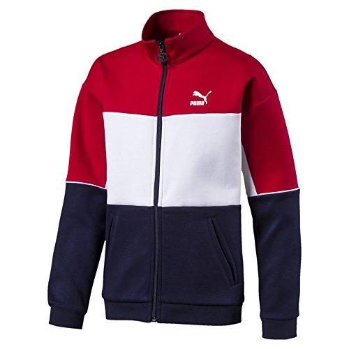 Puma Jungen Retro JKT B Sweatshirt, Peacoat, 116