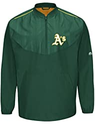 Oakland Athletics Majestic MLB Authentic Cool Base On-Field Training Jacket Veste