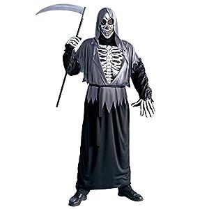 """WIDMANN Video Delta Mens Grim Reaper Vestuario Medio Reino Unido 40/42 """"para Disfraces de Halloween"""