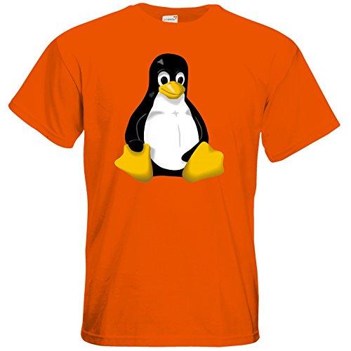- T-Shirt - Geek - Linux Tux - orange XXL ()
