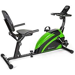 Klarfit Relaxbike 6.0 SE • Vélo couché • Cardiobike • Vélo d'exercice • Masse du volant: 12 kg • Résistance magnétique à 8 niveaux • Support de tablette • PulseControl • SilentBelt Drive • vert