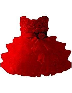 Vlunt Vestido para niñas, formal, vestido de boda, vestido de fiesta, de dama de honor, para 1-9 años, 90cm-160cm
