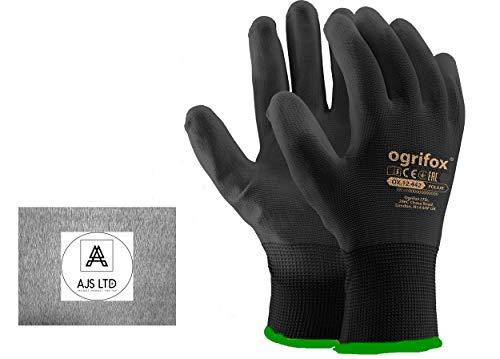 24 pares nueva negro revestimiento seguridad guantes