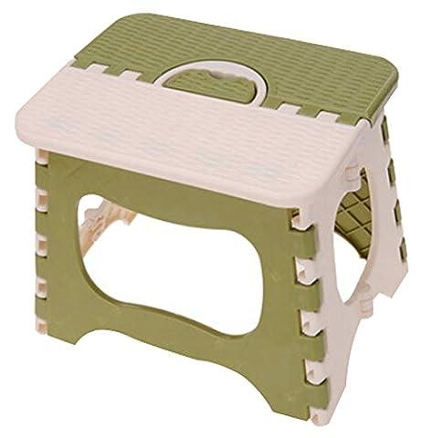 Tabouret pliant les Chaises pliantes Portable enfants vert