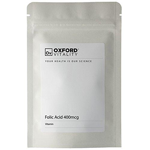 Oxford Vitality - Comprimés Acide Folique 400mcg