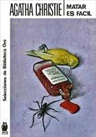 Matar es fácil par Agatha Christie