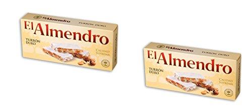 El Almendro - Turron Duro - Das Packet enthält 2 Hartes Mandelnougat...