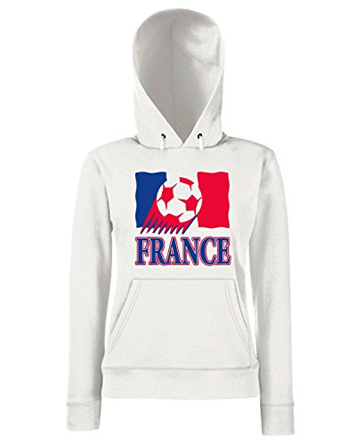 T-Shirtshock - Sweats a capuche Femme T0713 france calcio ultras Blanc