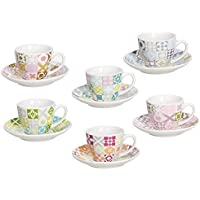 14/x 14/x 6/cm Porzellan Wei/ß Tognana Victoria Packung 6/Tassen Kaffee mit Untertasse