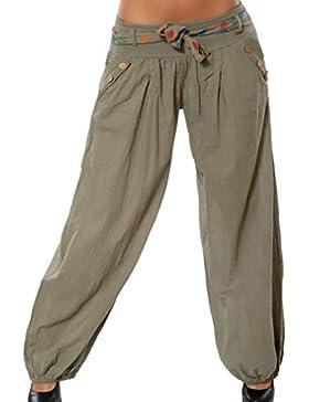 Última Moda Mujeres Ocasionales Cordón Flojo Cintura Baja Pantalones Simples Harem Al Aire Libre Fitness Yoga...